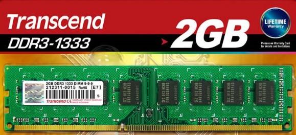 Transcend DDR3 2GB 1333Mhz
